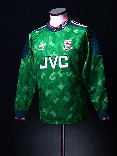 size 40 2770e ab4c0 1990-92 Arsenal Goalkeeper Shirt | Arsenal | Goalkeeper ...