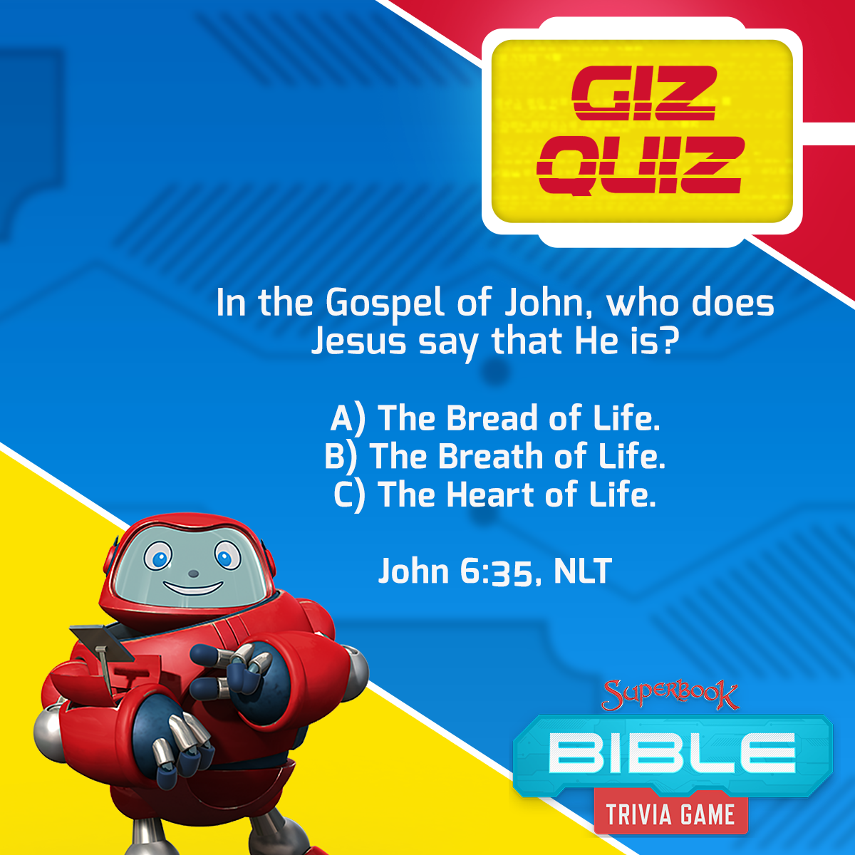 Pin by Superbook on Gizmo Games Superbook, Bible trivia