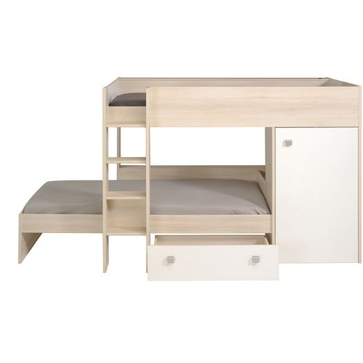 Best Parisot Ninety Twin Over Twin Bunk Bed With Trundle Bunk 400 x 300