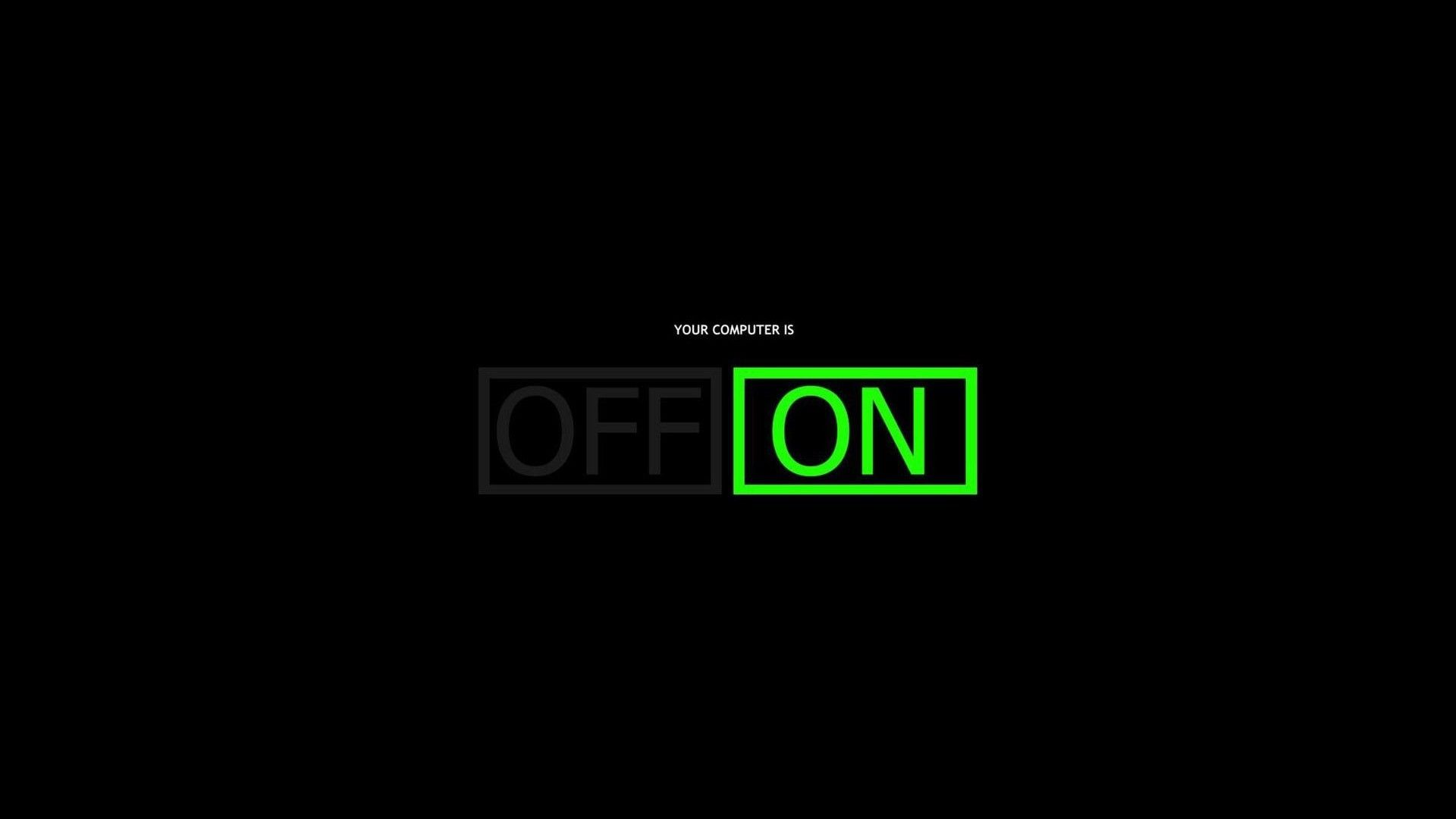 Black Typography Selective Coloring Computer Dark Green