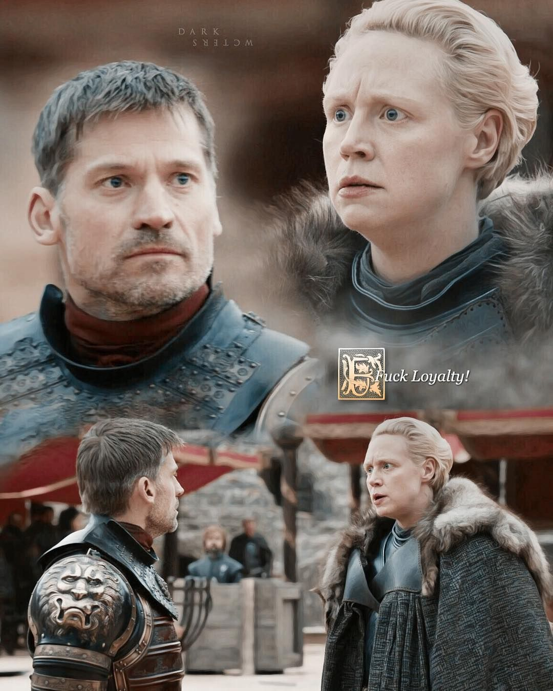 Brienne Of Tarth And Jaime Lannister Gameofthrones Season7 Game Of Thrones Brienne Jamie Lannister And Brienne Jaime Lannister