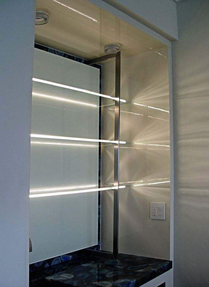 Glass Shelves with LEDs Lighting the Edges | smp | Pinterest | Cable ...