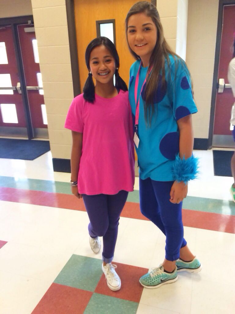 homecoming day 3  dynamic duo (plus one) boo sully and mike!  sc 1 st  Pinterest & homecoming day 3 : dynamic duo (plus one) boo sully and mike ...