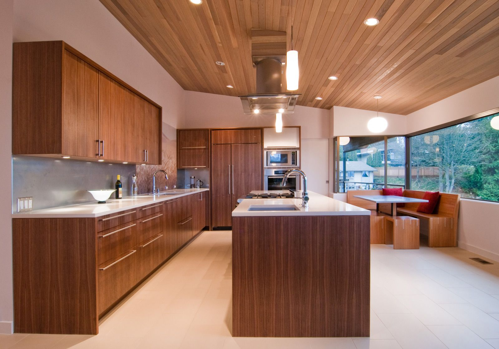 Classic Mcm Gets A Warm Modern Update Build Blog Modern Walnut Kitchen Walnut Kitchen Cabinets Modern Kitchen