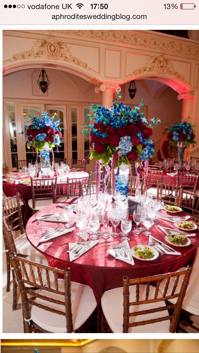 Claret And Blue A Pinterest Wedding Weddings And Wedding