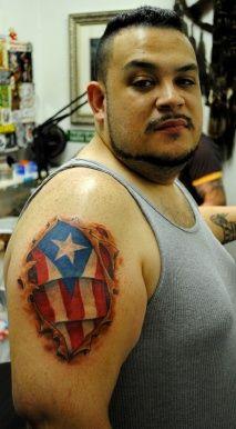 Puerto rican flag tattoos the red parlour tattoo ny ny for Henna tattoo in puerto rico