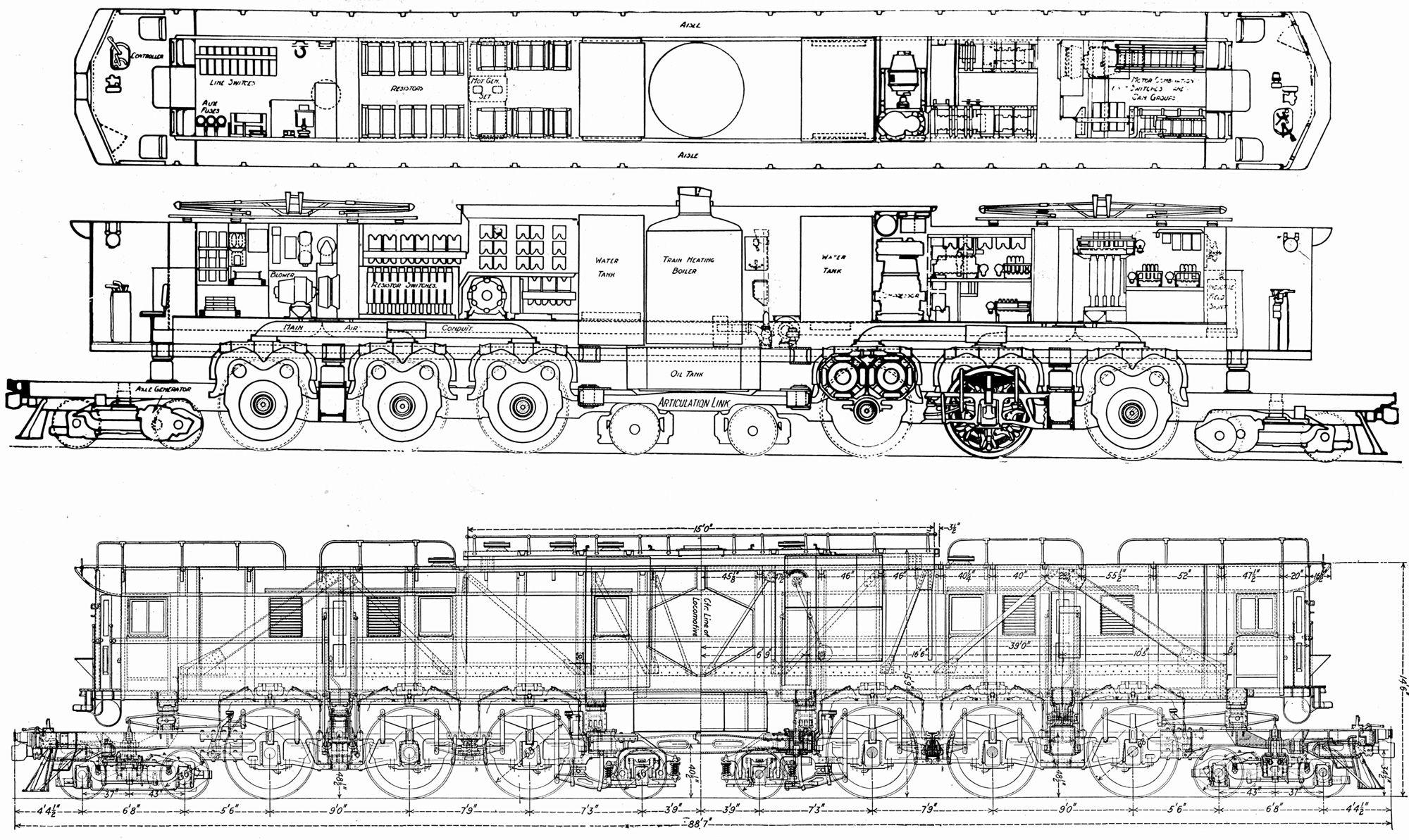 sketch painting drawing sketches drawings milwaukee road diesel locomotive graphic prints [ 2000 x 1193 Pixel ]
