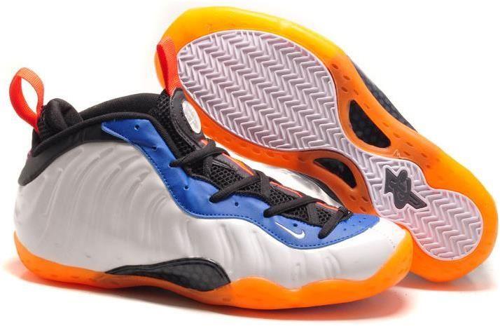 Cheap Nike Foamposites Ones Orange White Black Blue
