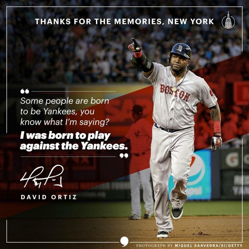 017323c6 David Ortiz quote about the NY Yankees #baseball #sportsrivalry #bigpapi