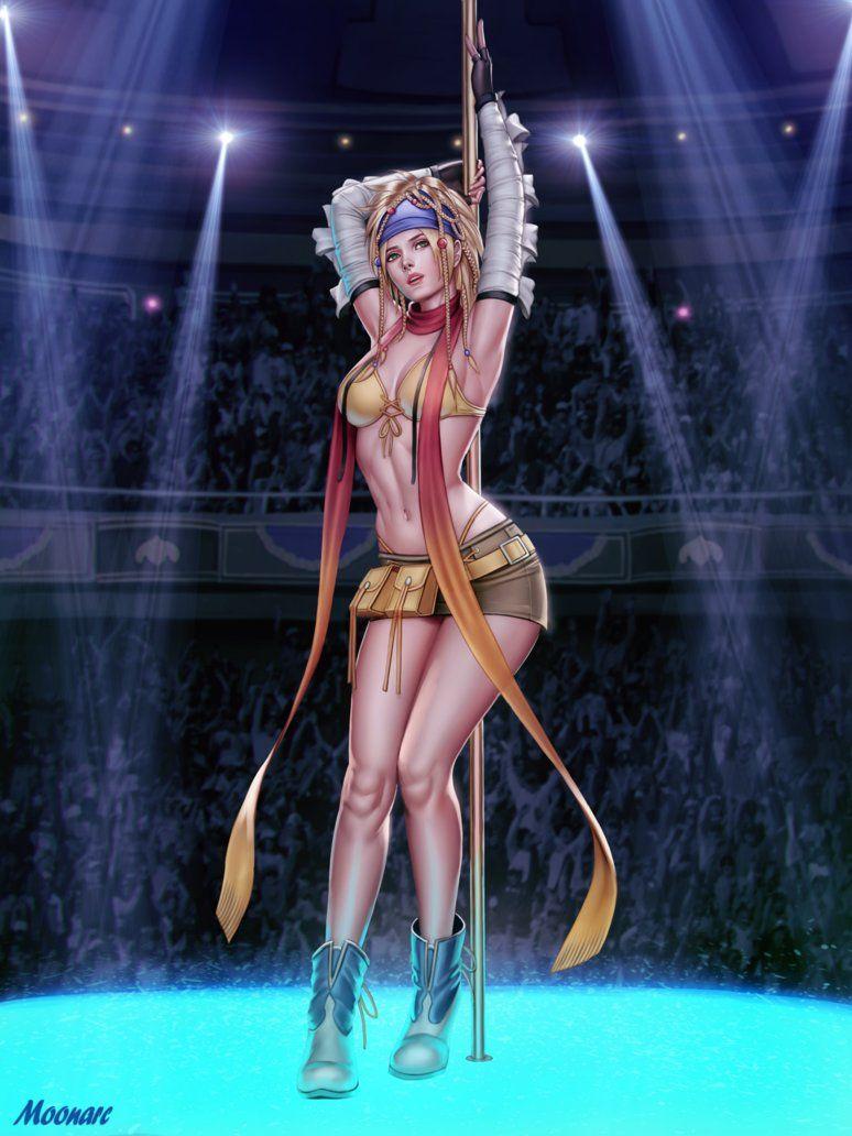 Final Fantasy X Sexy pin on bikini warrior