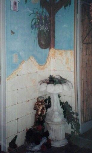 corner wall painted by linda strokeofimagination pinterest
