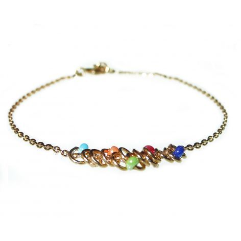 Beaded Rings Bracelet gold