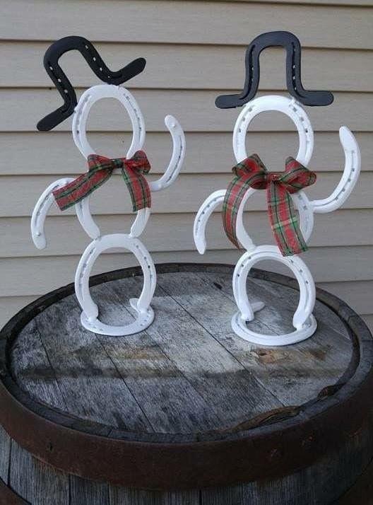 Christmas Horseshoe Art.Horseshoe Snowman Horseshoe Art Snowman Horse Christmas