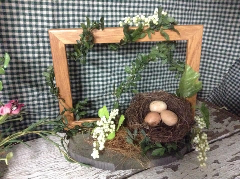 decorated picture frame for spring, spring, wall decor