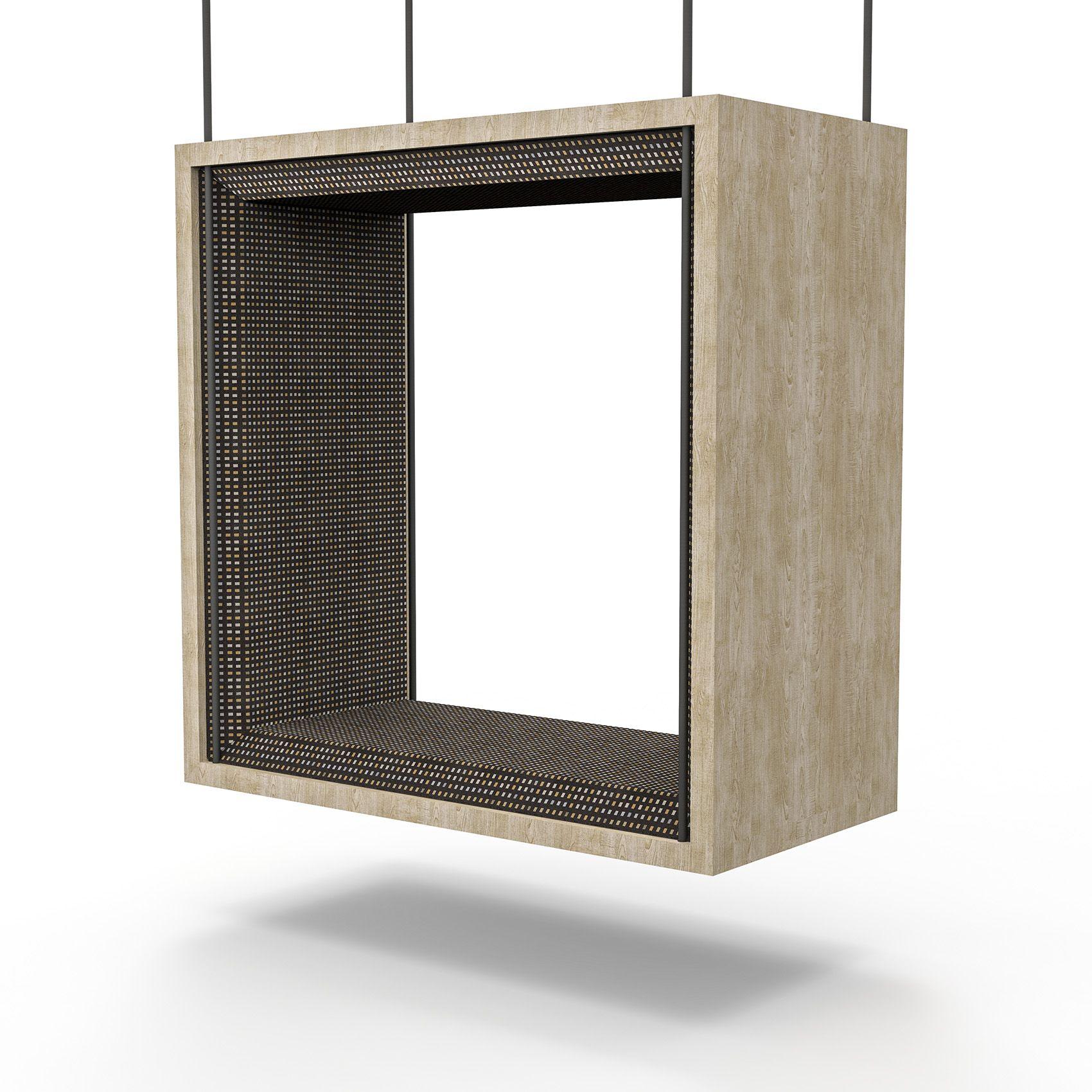 Wood Frame Box Swing Fully Upholstered Along All Four Sides