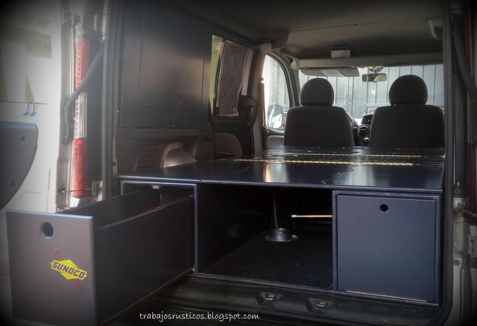 Artesan a madera muebles de madera r sticos camperizaciones camper furgonetas camperizar - Muebles el mogollon ...