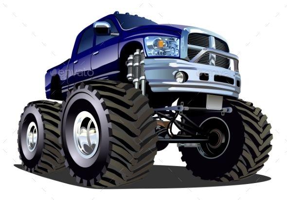 Cartoon Monster Truck Monster Trucks Car Cartoon Truck Art
