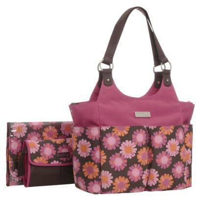 Carter S Joy Tote Diaper Bag Brown Pink Floral 39 99