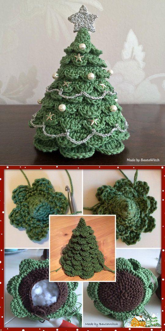 Noël Crochet Tree Pattern Les meilleures idées | Le WHOot   – Christmas
