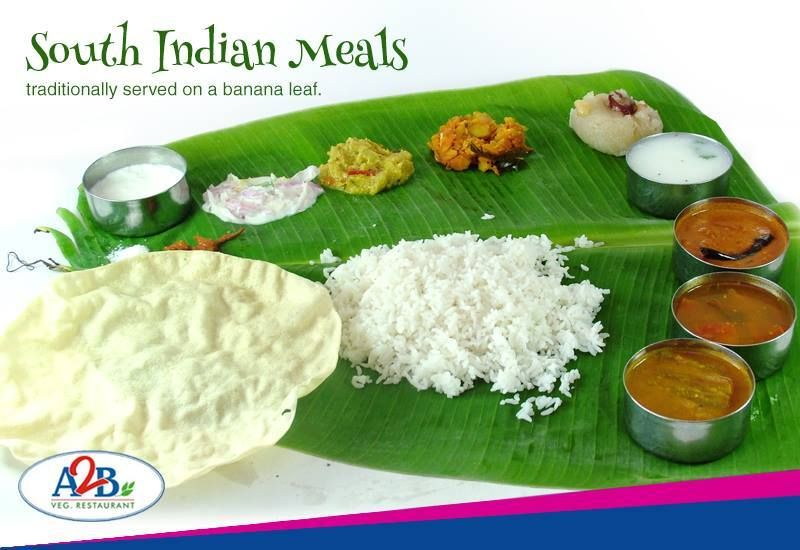 South Indian Meals Traditionally Served On A Banana Leaf Adyaranandabhavan Southindian Meals Indian Food Recipes Veg Restaurant Meals