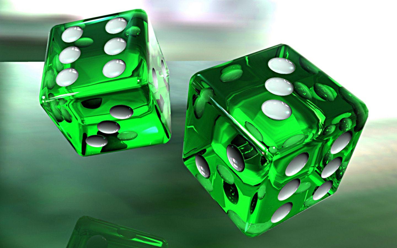 Glass Dice Green Glass 3d Wallpaper Hd 1080p Green Colors