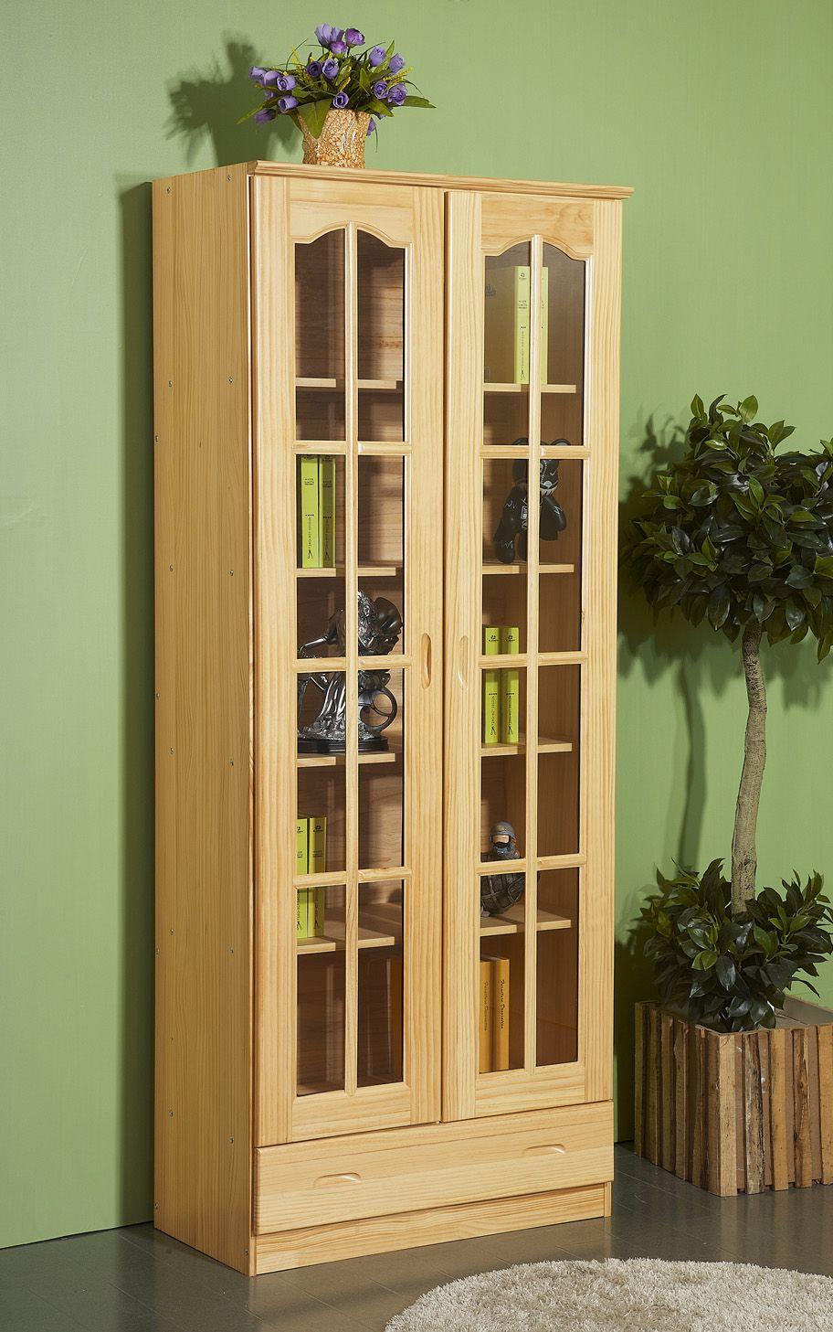 Zeitgenössische Moderne Bücherregal Mit Türen Holz