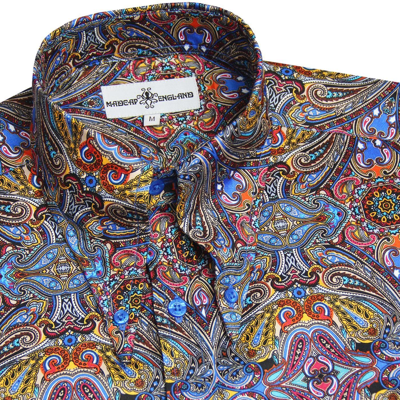 Madcap England Capo Mod Multi Paisley Spear Collar Shirt Collar