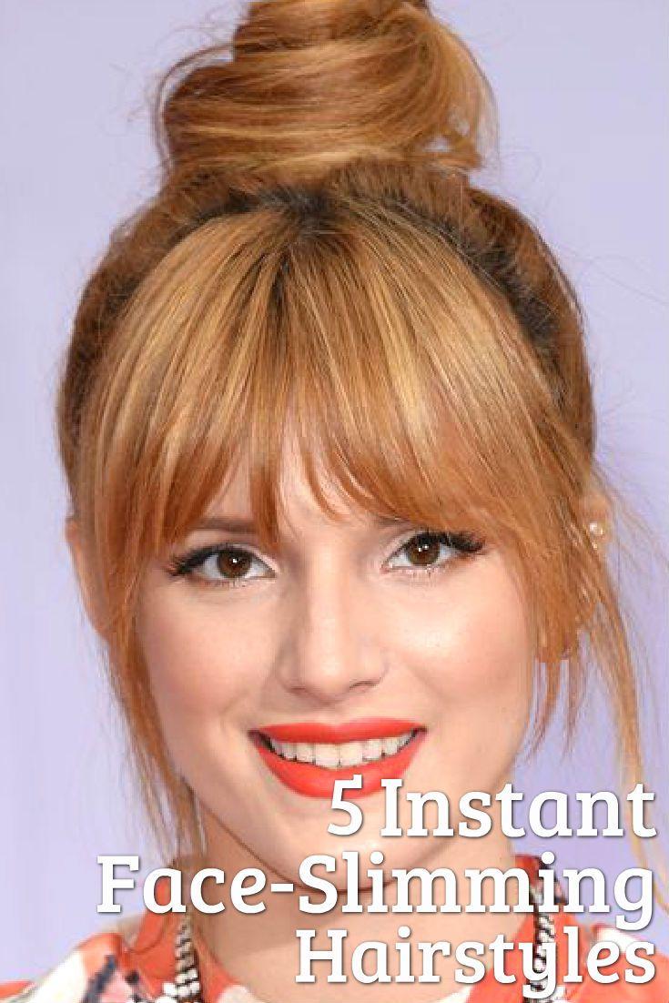 5 Instant Face Slimming Hairstyles Pinterest Light Hair Hair