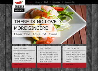 Chef Kitchen Template - Create a website for your restaurant or ...