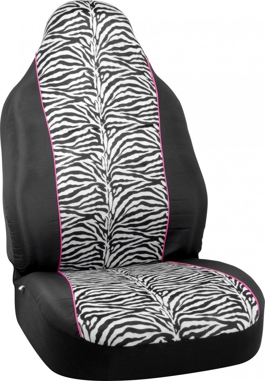 Zebra Black Accent Car Seat Cover Cute car accessories