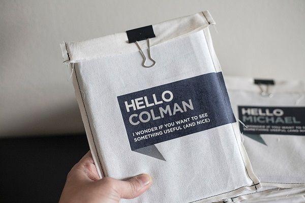 Designeru0027s Stylish Handmade Portfolio Comes In A Personalized - envelope for resume