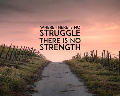 Where There Is No Struggle There Is No Strength - Color by Color Me Happy