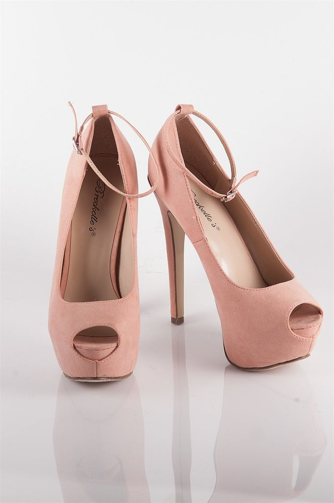 62c2083b79 Ankle Strap Platform Peep Toe Heels - Blush at Lucky 21 Lucky 21 ...