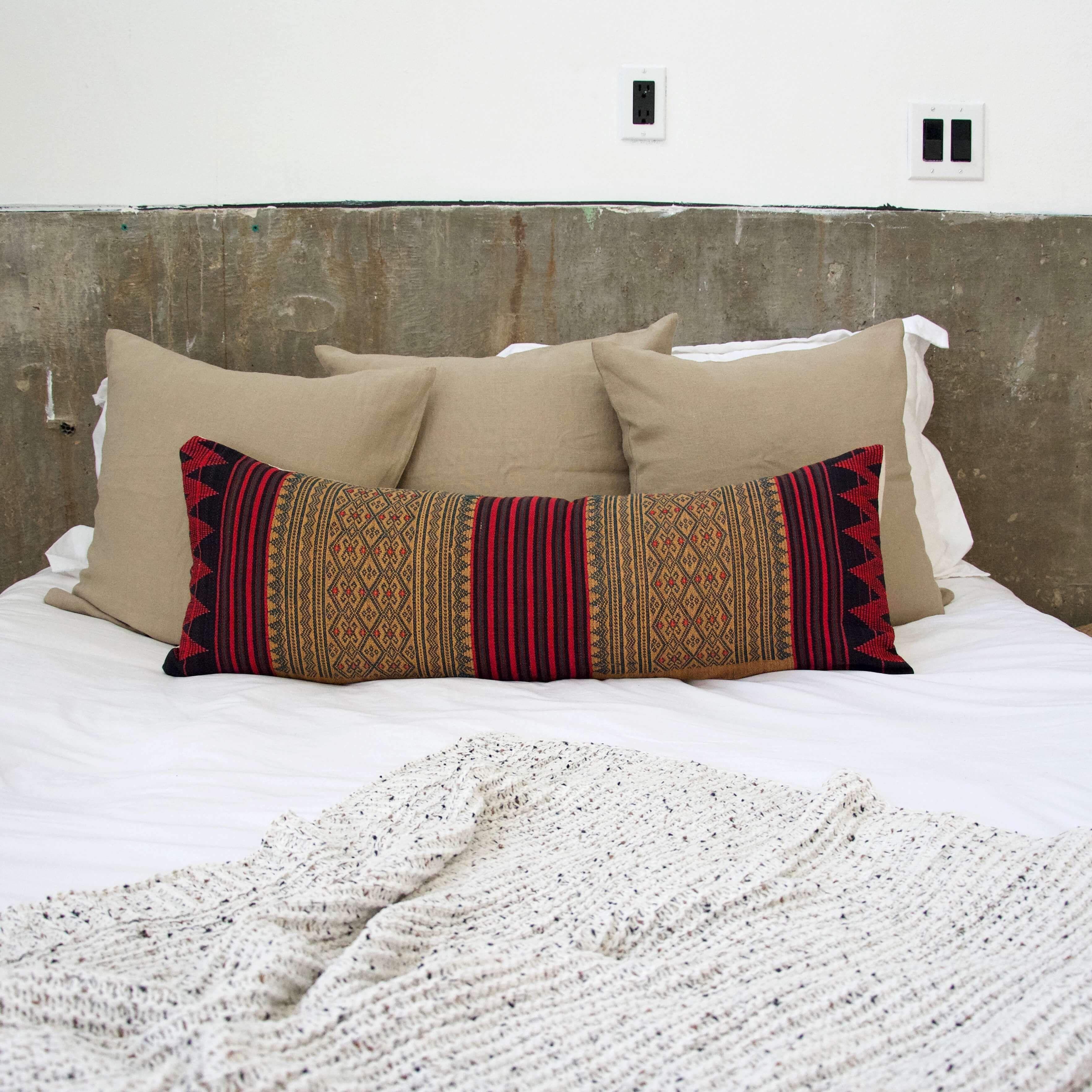 Naga Tribal Lumbar Pillow