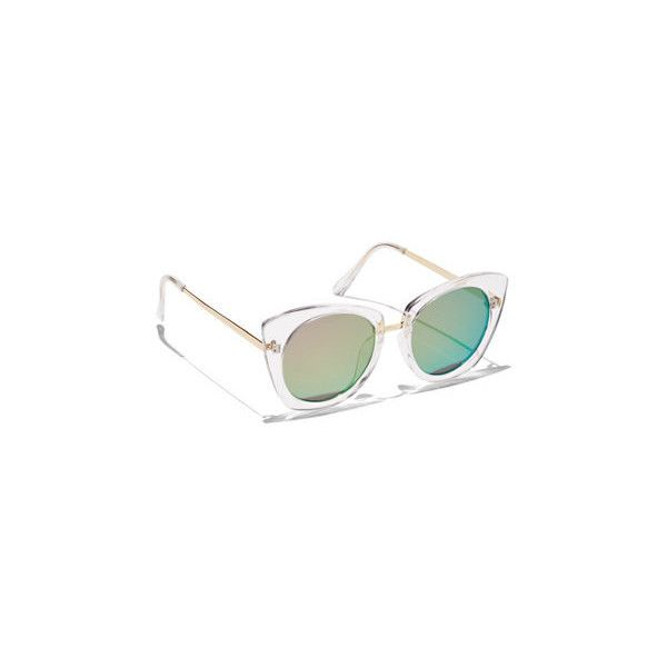 f8c8ae84e6a Clear-Frame Cat-Eye Sunglasses ( 6) ❤ liked on Polyvore featuring  accessories