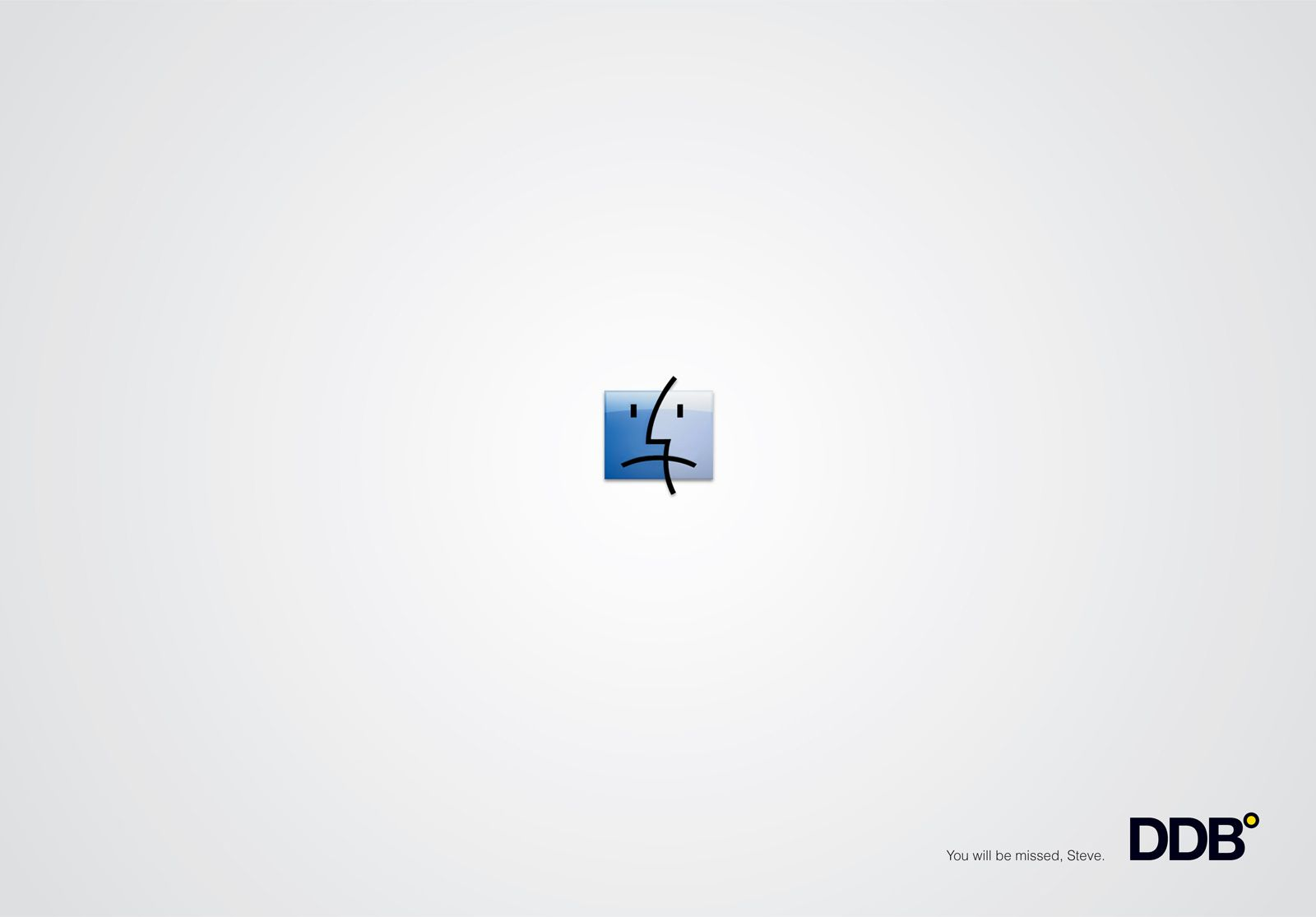DDB: Homage to Steve Jobs, Sad face You'll be missed, Steve.