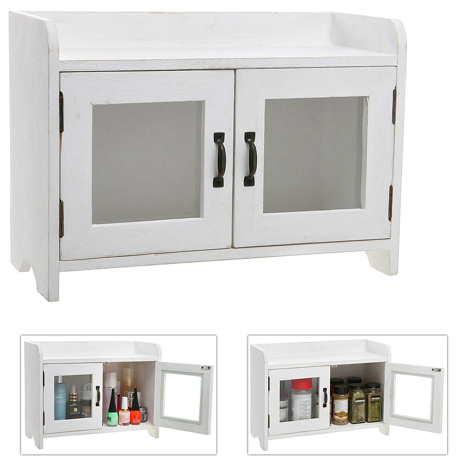 Chic Living Roomideas: MyGift Antique White Wood Kitchen & Bathroom Countertop