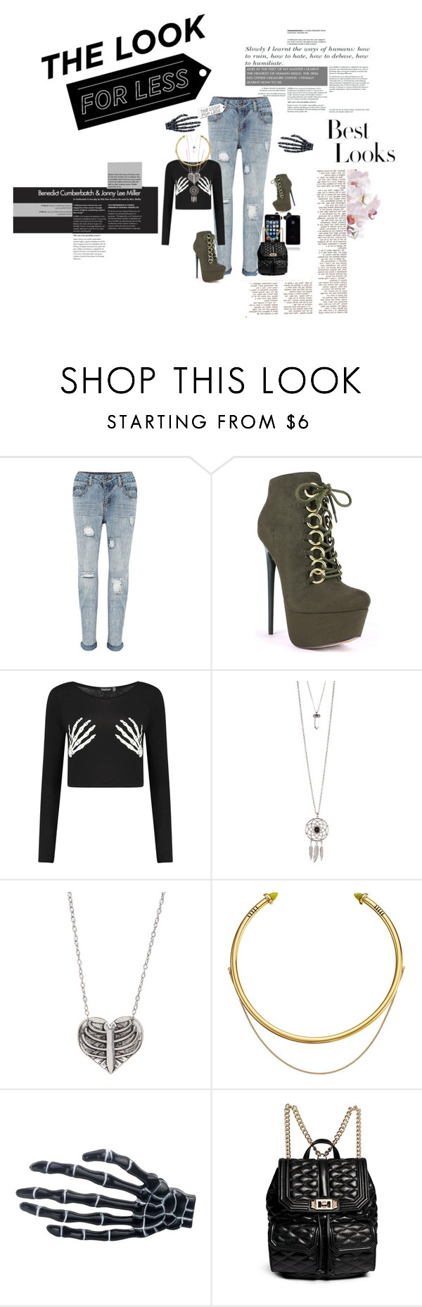 """""""Black Panda #31th Edition: Denim, The Look For Less"""" by natasja-exo ❤ liked on Polyvore featuring Jules Smith, OBEY Clothing, Rebecca Minkoff and MML"""