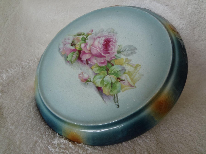 Antique Bonn Franz Ant Mehlem Pink Rose Trivet by AlayRayVintage on ...