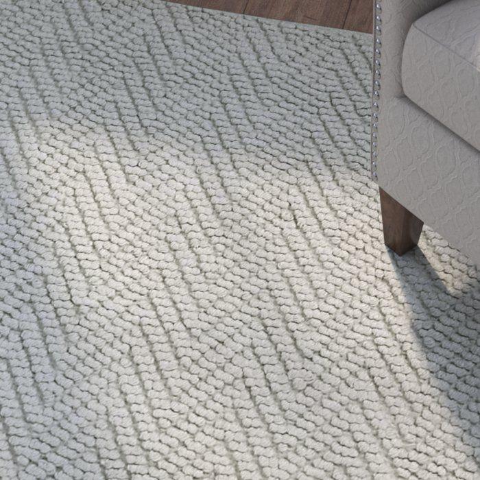 Honesdale Chevron Handmade Flatweave Jute Sisal Gray Area Rug