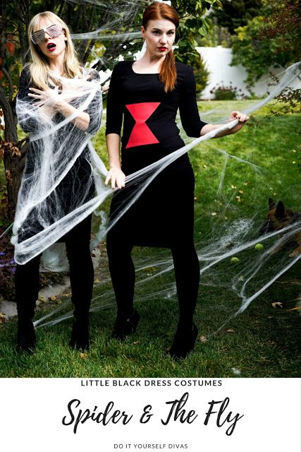Do it yourself divas diy spider and the fly halloween costumes how do it yourself divas diy spider and the fly halloween costumes how to turn the little black dress into the perfect diy halloween costume solutioingenieria Image collections