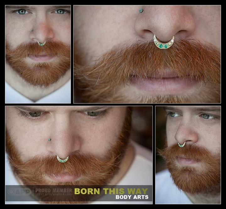 Look at this burly man with sexy jewelry Piercing done at Born