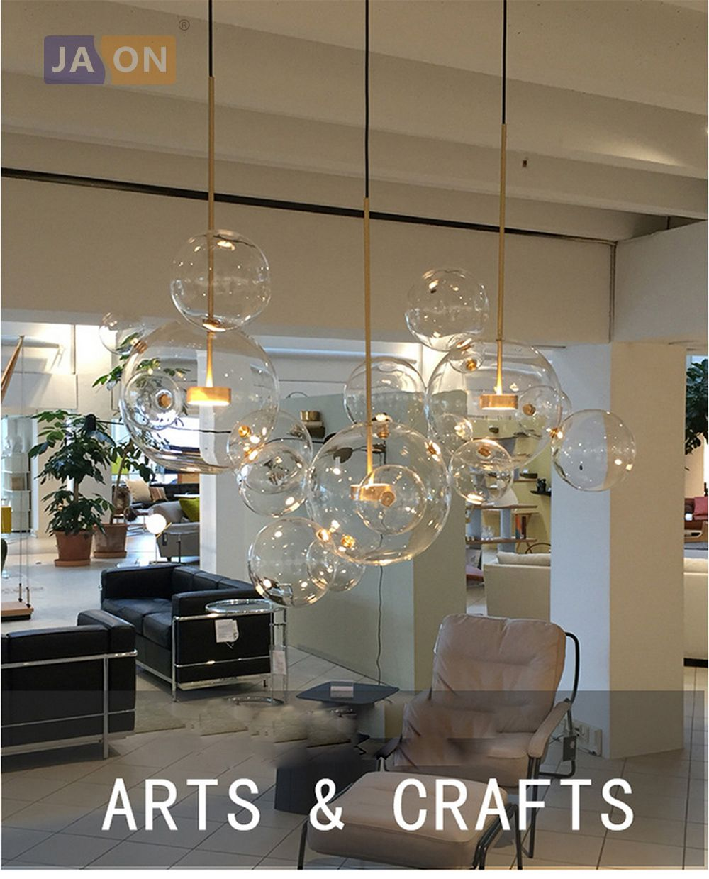 Led Postmodern Nordico Hierro Burbujas De Cristal Disenador Led Lampara Led Luz Glass Ball Pendant Lighting Ball Pendant Lighting Pendant Lighting Dining Room