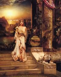 Here is a depiction of the character Hellen from the Greek epic, the Iliad. The Iliad was a story about a God caused conflicted between several Greek city-states including Troy, Sparta, and Athens. The story is credited to Homer, a famous Greek storyteller, and was translated through the oral tradition.
