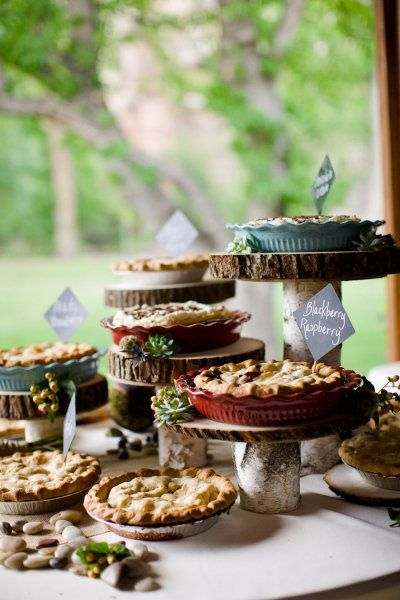 Wood Dessert Table ~ Boulder wedding from angie wilson photography dessert