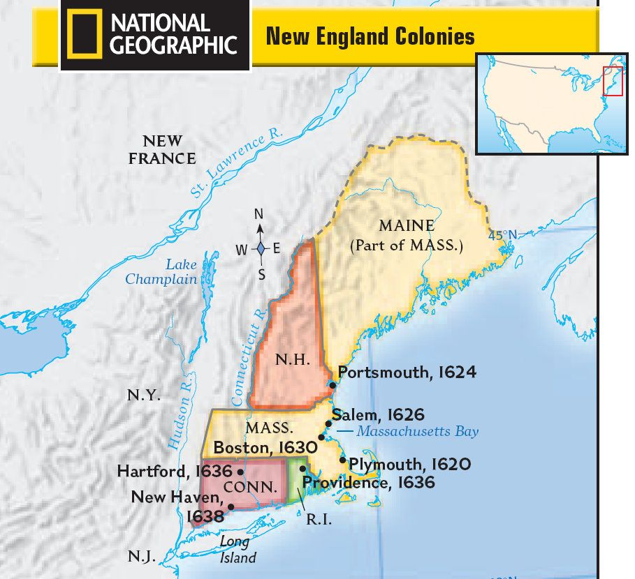 New England Colonies  History American Revolutionary War