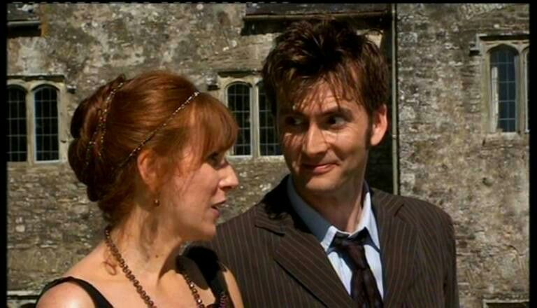 """David and Catherine Tate in """"The unicorn and the wasp"""""""