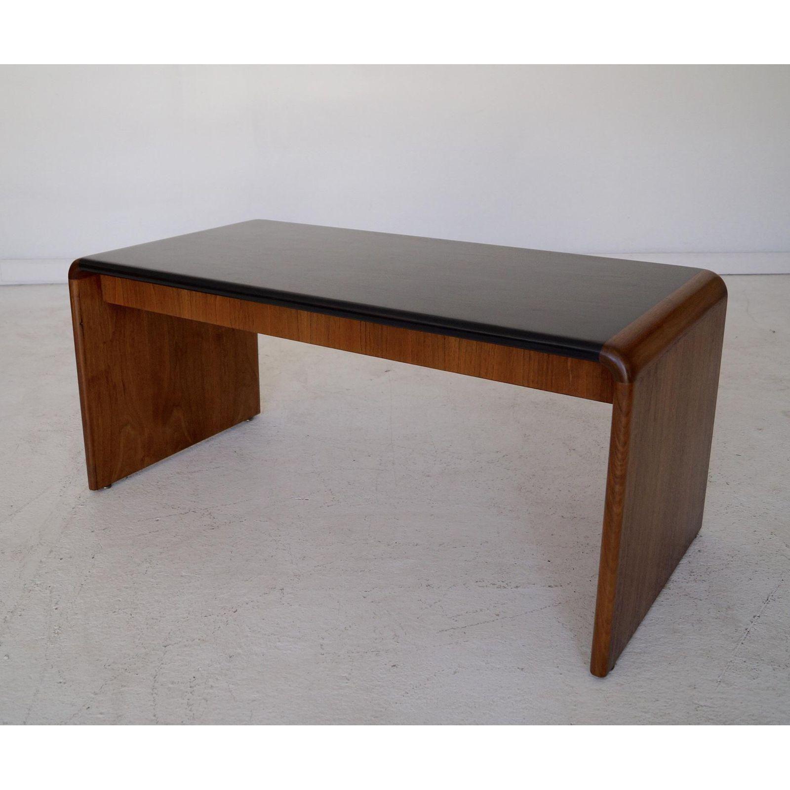 Fine Mid Century Teak Waterfall Edge Coffee Table Image 6 Of 11 Cjindustries Chair Design For Home Cjindustriesco
