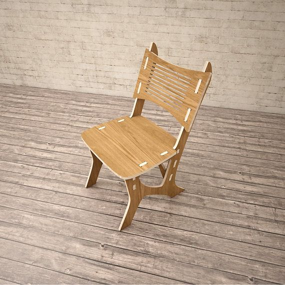 Chair CNC miled wood DXF file Digital download by VitaliStore ... | furniture dxf download