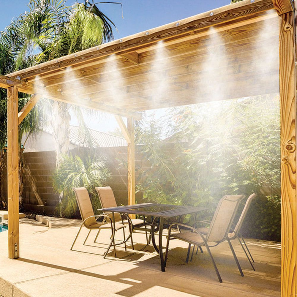 outdoor entertaining cooler ever patio systems residential misting with misters than is system img